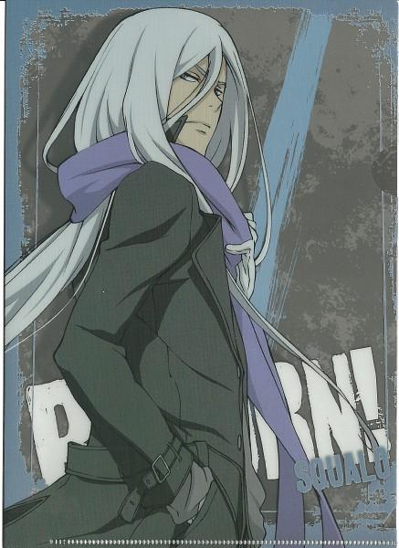 Tags: Anime, Tanaka Masayoshi, Katekyo Hitman REBORN!, Superbi Squalo, Official Art, Scan, Mobile Wallpaper
