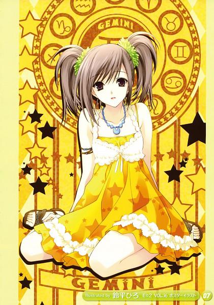 Tags: Anime, Suzuhira Hiro, Girls Girls Girls! 6, Gemini, Zodiac, Original, Mobile Wallpaper, Scan