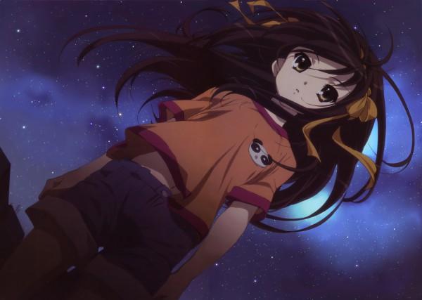 Tags: Anime, Nishiya Futoshi, Kyoto Animation, Suzumiya Haruhi no Yuuutsu, Suzumiya Haruhi, Scan, Official Art