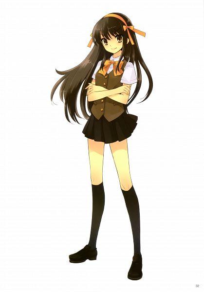 Tags: Anime, Ito Noizi, Suzumiya Haruhi no Yuuutsu, Suzumiya Haruhi, Official Art, Scan, Mobile Wallpaper