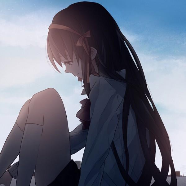 Tags: Anime, Hakoda Eko, Suzumiya Haruhi no Yuuutsu, Suzumiya Haruhi, Roof, Fanart, Pixiv