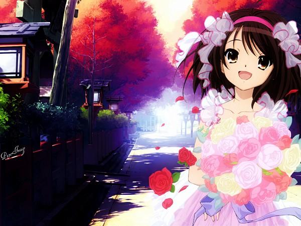 Tags: Anime, Suzumiya Haruhi no Yuuutsu, Suzumiya Haruhi, Fanmade Wallpaper, Edited, Wallpaper