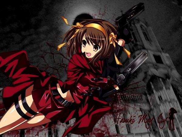 Tags: Anime, Suzumiya Haruhi no Yuuutsu, Suzumiya Haruhi, Dante (Cosplay), Wallpaper