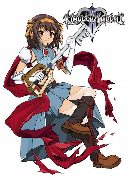 Tags: Anime, Suzumiya Haruhi no Yuuutsu, Kingdom Hearts, Suzumiya Haruhi, Mobile Wallpaper, Artist Request