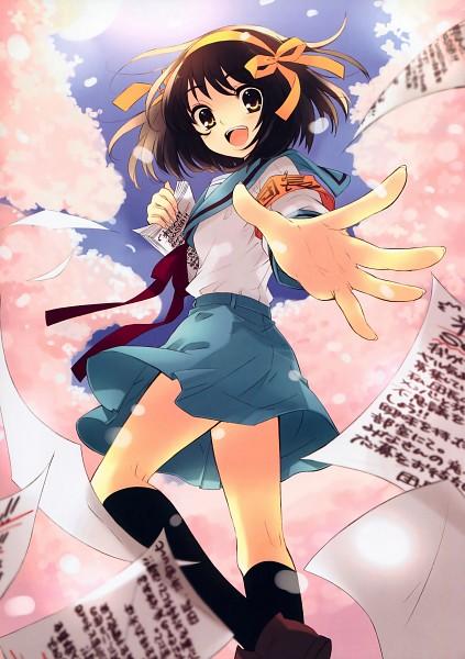Tags: Anime, Ito Noizi, Suzumiya Haruhi no Yuuutsu, Suzumiya Haruhi, Scan, Mobile Wallpaper