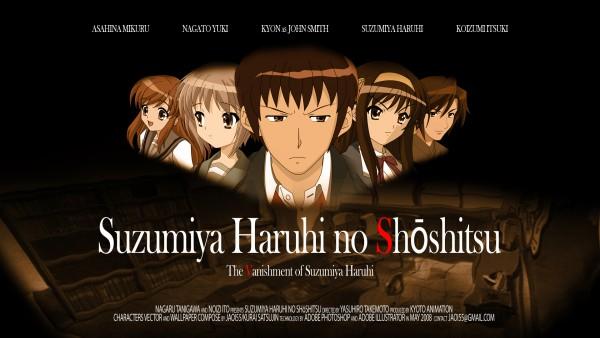 Tags: Anime, Suzumiya Haruhi no Yuuutsu, Koizumi Itsuki, Kyon, Nagato Yuki, Asahina Mikuru, Suzumiya Haruhi, HD Wallpaper, Fanmade Wallpaper, Edited, Wallpaper, The Melancholy Of Haruhi Suzumiya