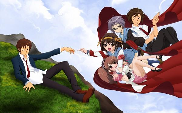 Tags: Anime, Suzumiya Haruhi no Yuuutsu, Suzumiya Haruhi, Koizumi Itsuki, Kyon, Nagato Yuki, Asahina Mikuru, Wallpaper, HD Wallpaper, Artist Request, The Melancholy Of Haruhi Suzumiya