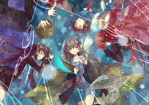 Tags: Anime, Kizuna Black15, Suzumiya Haruhi no Yuuutsu, Asahina Mikuru, Suzumiya Haruhi, Koizumi Itsuki, Kyon, Nagato Yuki, Pixiv, Fanart, The Melancholy Of Haruhi Suzumiya