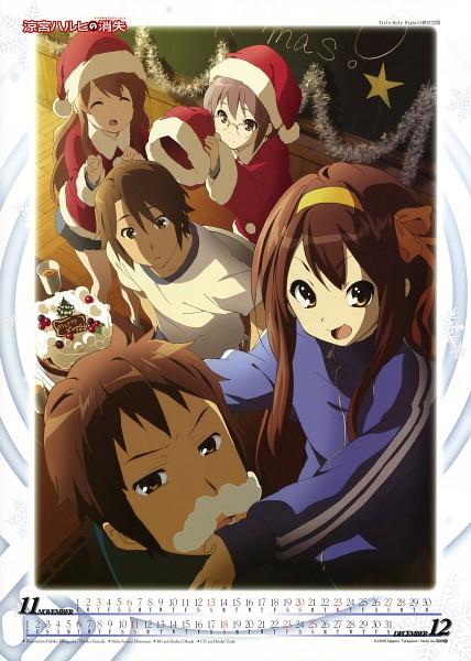 Tags: Anime, Horiguchi Yukiko, Kyoto Animation, Suzumiya Haruhi no Yuuutsu, Suzumiya Haruhi no Yuuutsu 2011 Calendar, Asahina Mikuru, Suzumiya Haruhi, Koizumi Itsuki, Kyon, Nagato Yuki, Mobile Wallpaper, Scan, Calendar (Source), The Melancholy Of Haruhi Suzumiya