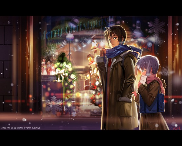 Tags: Anime, Alphonse, Suzumiya Haruhi no Yuuutsu, Kyon, Nagato Yuki, Store, Wallpaper, Pixiv, The Melancholy Of Haruhi Suzumiya