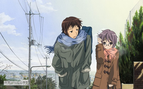 Tags: Anime, Kyoto Animation, Suzumiya Haruhi no Yuuutsu, Nagato Yuki, Kyon, Official Art, Wallpaper, The Melancholy Of Haruhi Suzumiya