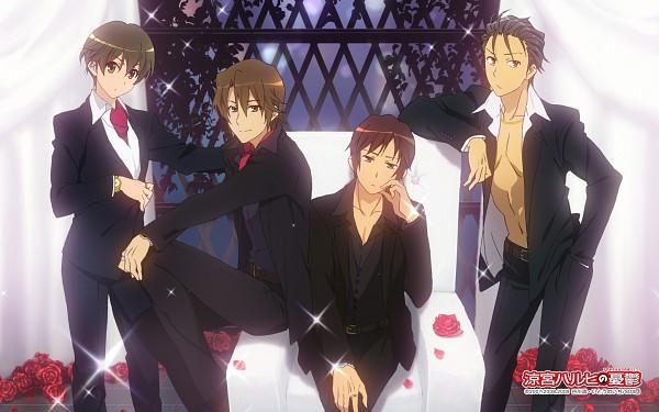 Tags: Anime, Kyoto Animation, Suzumiya Haruhi no Yuuutsu, Koizumi Itsuki, Taniguchi, Kyon, Kunikida, Official Art, Scan, Wallpaper, The Melancholy Of Haruhi Suzumiya