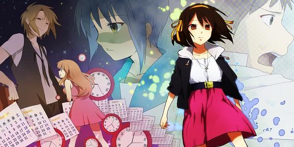 Tags: Anime, Takenoko, Suzumiya Haruhi no Yuuutsu, Asahina Mikuru, Suzumiya Haruhi, Koizumi Itsuki, Kyon, Nagato Yuki, Wallpaper, Facebook Cover, The Melancholy Of Haruhi Suzumiya