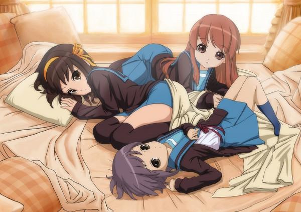 Tags: Anime, Pixiv Id 293432, Suzumiya Haruhi no Yuuutsu, Nagato Yuki, Asahina Mikuru, Suzumiya Haruhi, The Melancholy Of Haruhi Suzumiya
