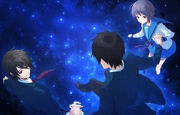 Tags: Anime, 00111 (Artist), Suzumiya Haruhi no Yuuutsu, Koizumi Itsuki, Kyon, Nagato Yuki, Pixiv, Fanart, The Melancholy Of Haruhi Suzumiya