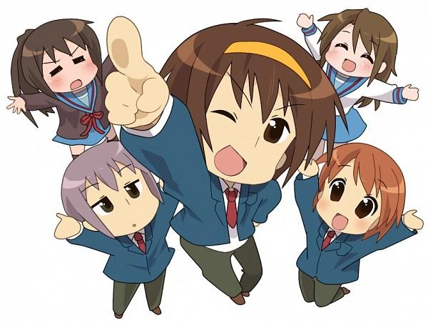 Tags: Anime, Pixiv Id 156949, Suzumiya Haruhi no Yuuutsu, Nagato Yuki, Asahina Mikuru, Suzumiya Haruhi, Koizumi Itsuki, Kyon, The Melancholy Of Haruhi Suzumiya