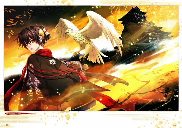 Tags: Anime, miko (Artist), IDEA FACTORY, Toki no Kizuna Official Fanbook ~Sekigahara Kitan~, Toki no Kizuna, Suzumori Yukina, Hawk, Scan, Official Art