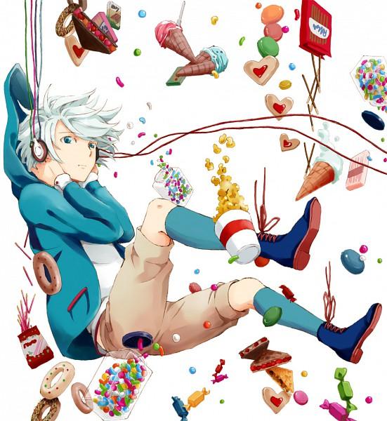 Tags: Anime, Level-5, Inazuma Eleven, Suzuno Fuusuke, Jelly Beans, Popcorn, Pixiv, Fanart