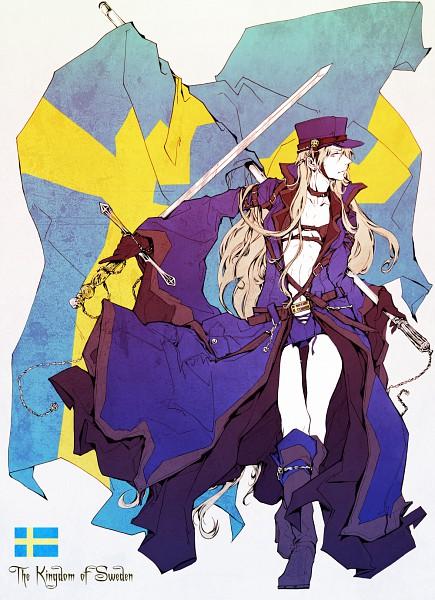 Tags: Anime, Wu Ma Zhi, Axis Powers: Hetalia, Sweden (Female), Nyotalia, Fanart, Mobile Wallpaper, Pixiv, Nordic Countries