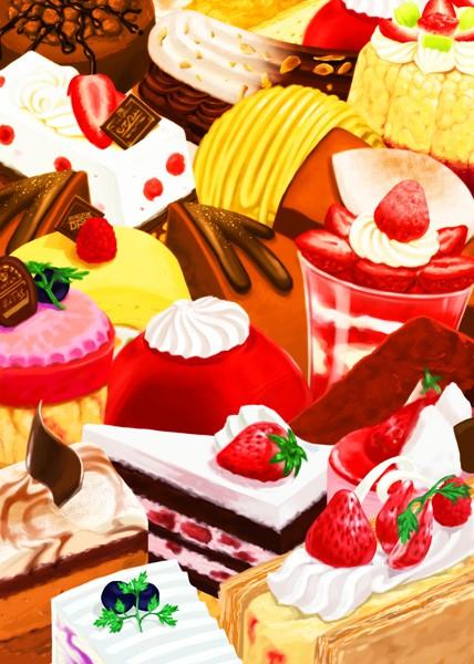 sweets food zerochan anime image board