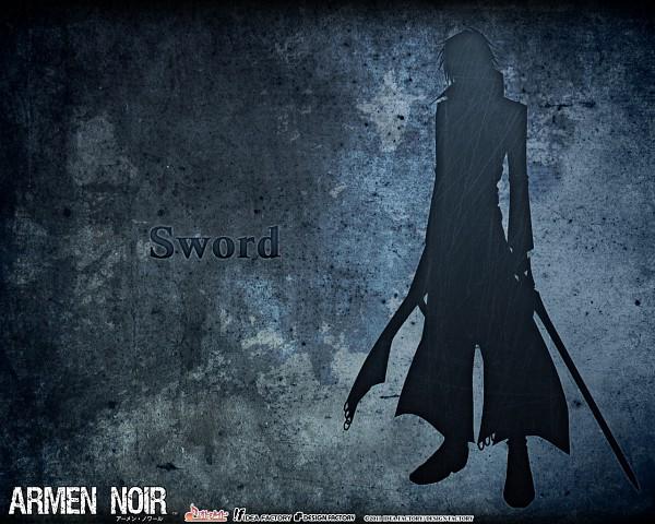 Tags: Anime, Ike (Artist), IDEA FACTORY, Armen Noir, Sword (Character), Wallpaper, Official Art, Official Wallpaper