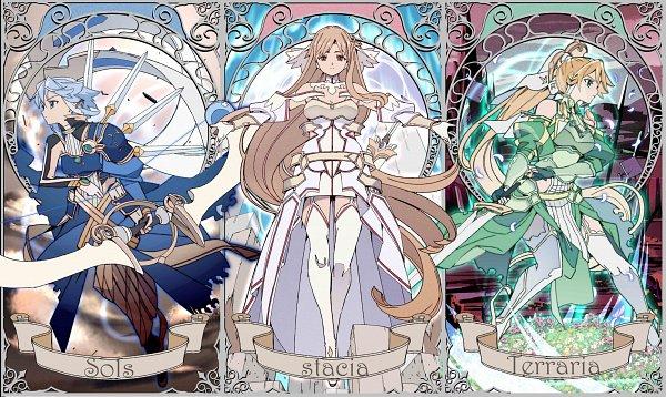 Tags: Anime, Sword Art Online: Alicization -War Of Underworld-, Sword Art Online, Sword Art Online: Alicization, Stacia (PA), Kirigaya Suguha, Solus (PA), Yuuki Asuna, Terraria (PA), Asada Shino