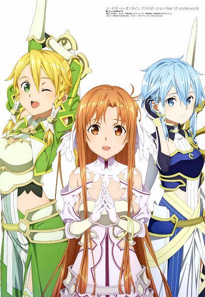 Tags: Anime, A-1 Pictures, Sword Art Online, Sword Art Online: Alicization -War Of Underworld-, Sword Art Online: Alicization, Asada Shino, Stacia (PA), Kirigaya Suguha, Solus (PA), Yuuki Asuna, Terraria (PA), Scan, Official Art