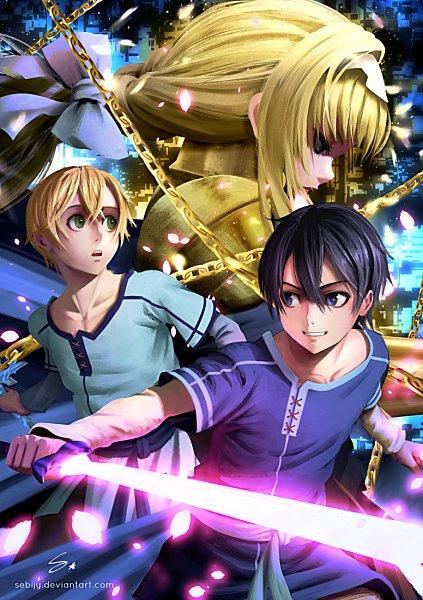 Tags: Anime, Pixiv Id 17678999, Sword Art Online, Sword Art Online: Alicization, Alice Schuberg, Eugeo (Sword Art Online), Kirigaya Kazuto