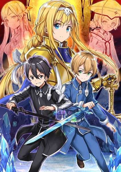 Tags: Anime, Hiroki (Hirokiart), Sword Art Online, Sword Art Online: Alicization, Cardinal (Sword Art Online), Alice Schuberg, Quinella, Eugeo (Sword Art Online), Kirigaya Kazuto
