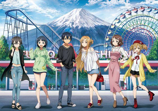 Tags: Anime, A-1 Pictures, Sword Art Online: Alicization, Sword Art Online, Asada Shino, Shinozaki Rika, Ayano Keiko, Yuuki Asuna, Kirigaya Suguha, Kirigaya Kazuto, Official Art, Product Advertising