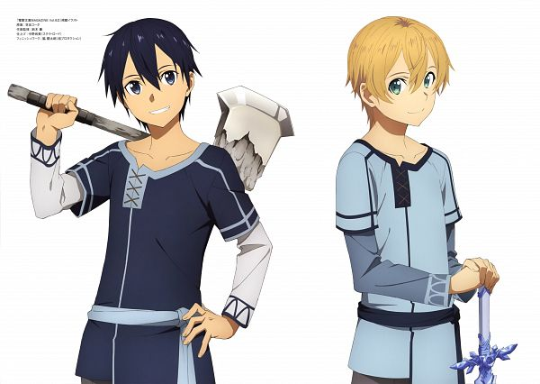 Tags: Anime, A-1 Pictures, Sword Art Online: Alicization, Sword Art Online, Alicization Animation Artworks, Eugeo (Sword Art Online), Kirigaya Kazuto, Official Art, Scan