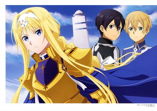 Tags: Anime, A-1 Pictures, Sword Art Online: Alicization, Sword Art Online, Alicization Animation Artworks, Alice Schuberg, Eugeo (Sword Art Online), Kirigaya Kazuto, Official Art, Scan