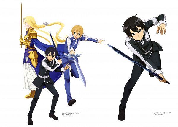 Tags: Anime, A-1 Pictures, Sword Art Online, Sword Art Online: Alicization, Alicization Animation Artworks, Eugeo (Sword Art Online), Kirigaya Kazuto, Alice Schuberg, Scan, Official Art