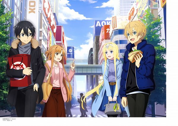Tags: Anime, A-1 Pictures, Sword Art Online: Alicization, Sword Art Online, Alicization Animation Artworks, Kirigaya Kazuto, Alice Schuberg, Yuuki Asuna, Eugeo (Sword Art Online), Scan, Official Art