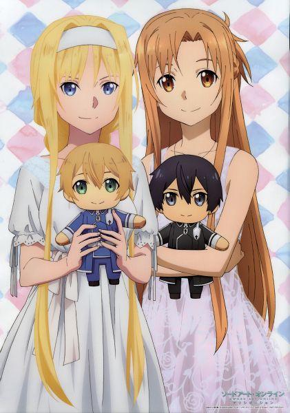 Tags: Anime, A-1 Pictures, Sword Art Online: Alicization, Sword Art Online, Alice Schuberg, Yuuki Asuna, Eugeo (Sword Art Online), Kirigaya Kazuto, Scan, Official Art