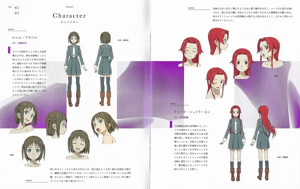 Tags: Anime, A-1 Pictures, Sword Art Online: Alicization, Sword Art Online, Ronye Arabel, Tiese Shtolienen, Scan, Official Art, Character Sheet