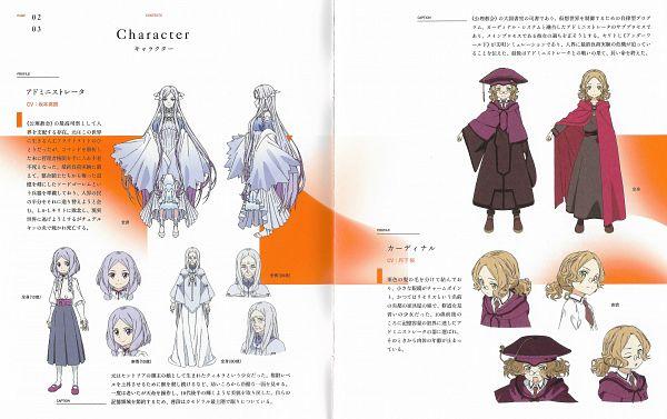 Tags: Anime, A-1 Pictures, Sword Art Online, Sword Art Online: Alicization, Quinella, Cardinal (Sword Art Online), Official Art, Character Sheet, Scan