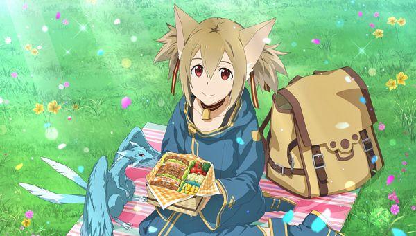 Tags: Anime, Bandai Namco Entertainment, Sword Art Online, Sword Art Online: Alicization Blading, Ayano Keiko, Silica (ALO), Pina (Sword Art Online), Official Art, Sword Art Online: Alicization Rising Steel