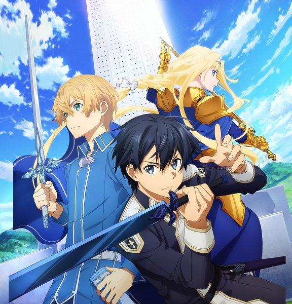 Tags: Anime, Aquria, Sword Art Online, Sword Art Online: Alicization Lycoris, Alice Schuberg, Eugeo (Sword Art Online), Kirigaya Kazuto, Key Visual, Official Art