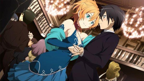 Tags: Anime, Aquria, Sword Art Online, Sword Art Online: Hollow Fragment, Philia (Sword Art Online), Kirigaya Kazuto, Takemiya Kotone, Wallpaper, CG Art, Official Art