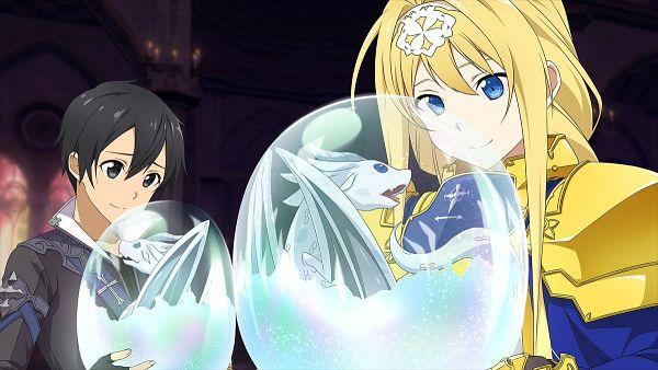 Tags: Anime, Aquria, Sword Art Online, Sword Art Online: Hollow Realization, Alice Schuberg, Kirigaya Kazuto, CG Art, Official Art