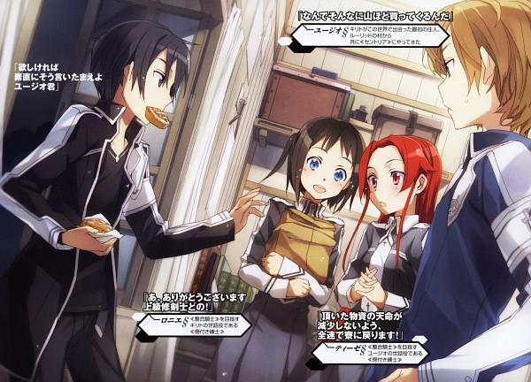Tags: Anime, abec, Sword Art Online, Ronye Arabel, Kirigaya Kazuto, Tiese Shtolienen, Eugeo (Sword Art Online), Novel Illustration, Scan, Official Art