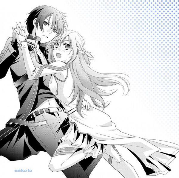 Tags: Anime, Pixiv Id 810697, Sword Art Online, Yuuki Asuna, Kirigaya Kazuto