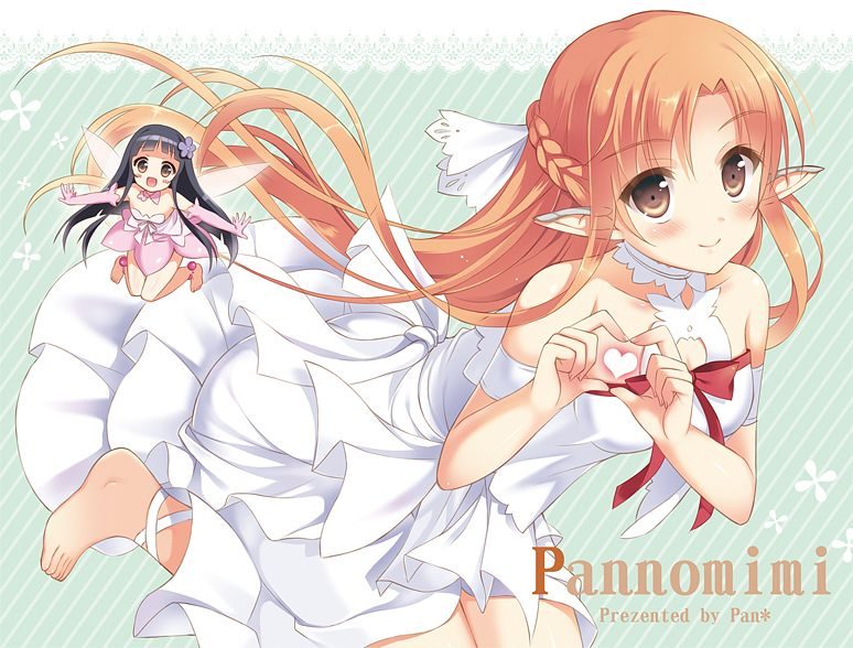 Tags: Anime, Pan (mimi), Sword Art Online, Yui (ALO), Yui (Sword Art Online), Yuuki Asuna, Titania (ALO)
