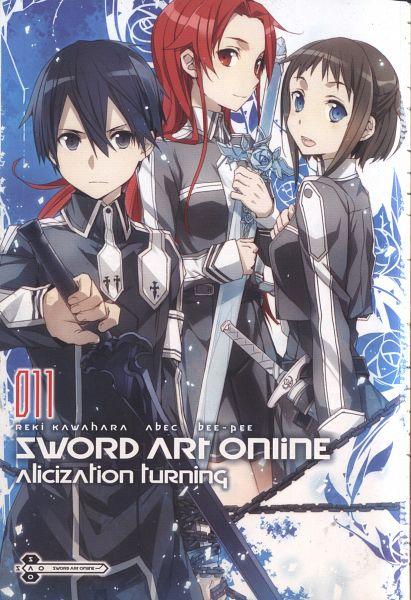 Tags: Anime, abec, Sword Art Online, Kirigaya Kazuto, Ronye Arabel, Tiese Shtolienen, Official Art, Novel Illustration, Scan, Mobile Wallpaper