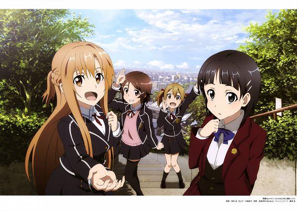 Tags: Anime, A-1 Pictures, Sword Art Online, Sword Art Online Artbook (Tentative), Shinozaki Rika, Yuuki Asuna, Ayano Keiko, Kirigaya Suguha, Scan, Official Art