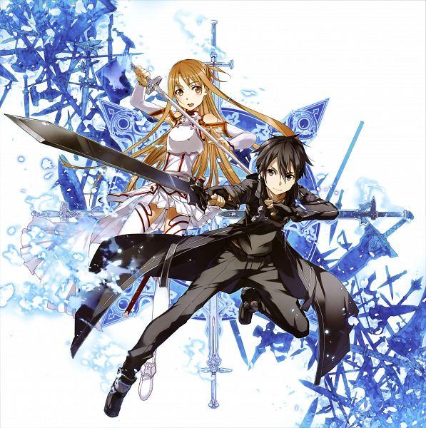 Tags: Anime, abec, Sword Art Online, Sword Art Online Artbook (Tentative), Yuuki Asuna, Kirigaya Kazuto, Official Art, Scan