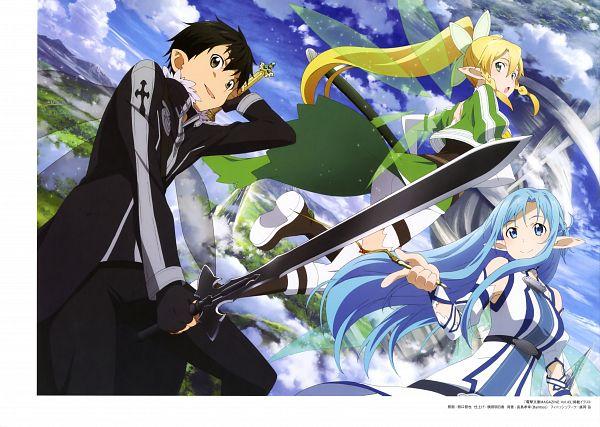 Tags: Anime, A-1 Pictures, Sword Art Online, Sword Art Online Artbook (Tentative), Lyfa (ALO), Kirito (ALO), Yuuki Asuna, Kirigaya Suguha, Kirigaya Kazuto, Asuna (ALO), Official Art, Scan