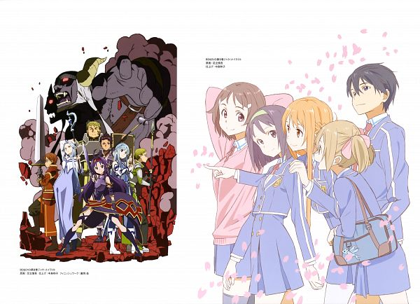 Tags: Anime, Adachi Shingo, A-1 Pictures, Sword Art Online, Sword Art Online Artbook (Tentative), Thatch (Sword Art Online), Konno Yuuki, Yuuki Asuna, Siune (Sword Art Online), Kirigaya Kazuto, Jun (Sword Art Online), Asuna (ALO), Nori (Sword Art Online)