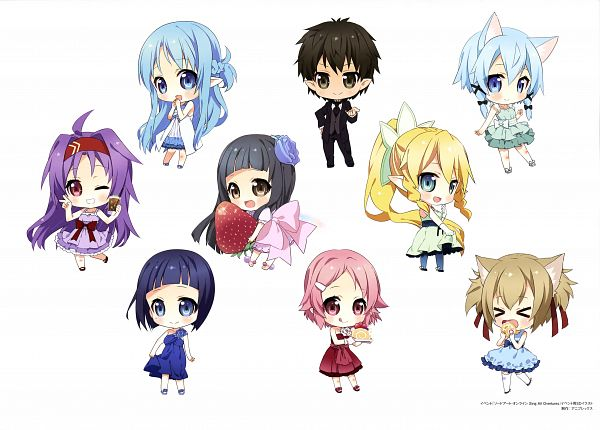 Tags: Anime, A-1 Pictures, Sword Art Online, Sword Art Online Artbook (Tentative), Yui (Sword Art Online), Sinon (ALO), Kirigaya Suguha, Asuna (ALO), Asada Shino, Kirigaya Kazuto, Yui (ALO), Sachi (Sword Art Online), Lyfa (ALO)